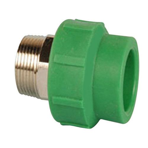 Ppr coupler male thread brass